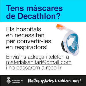 Màscares Decathlon